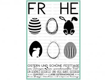 Stempelset creative-depot 'Frohe Ostern'