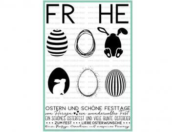 Stempelset creative-depot 'Frohe Ostern'