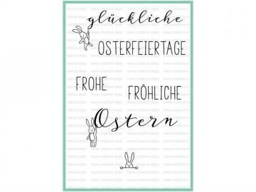 Stempelset creative-depot 'Glückliche Ostergrüße'
