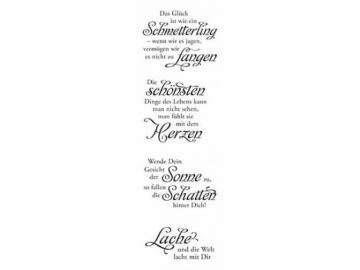 Stempelset Karten-Kunst Weise Worte 'Glück'
