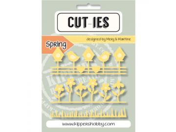 Stanzschablone Kippershobby Cut-ies 'Spring Border Bird & Flower'