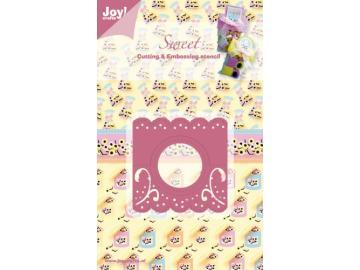Stanzschablone Joy!Crafts 'Sweet - Kopfschildchen rund'