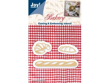Stanzschablone Joy!Crafts 'Bakery - Brot, Croissants u. Baguette'