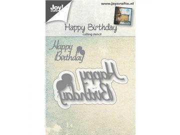 Stanzschablone Joy!Crafts 'Happy Birthday'