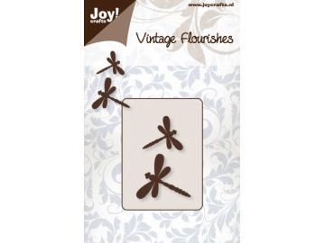 Stanzschablone Joy!Crafts 'Vintage Flourishes - Libellen'