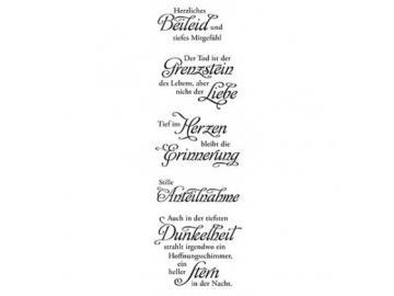 Stempelset Karten-Kunst Weise Worte 'Trauer'
