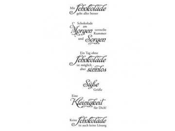 Stempelset Karten-Kunst Weise Worte 'Schokolade'
