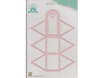 Stanzschablone NellieSnellen Wrapping Die 'Box-4 Triangle Box - Schmuckschachtel'