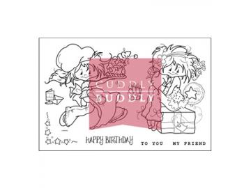 Stempelset Cuddly Buddly 'Little Poppets Birthday'