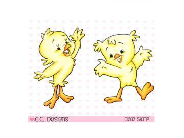 Stempelset CCDesign 'Chickies'