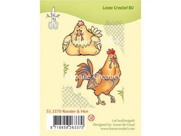 Stempelset Leane Creatief 'Rooster & Hen'