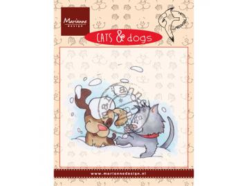 Stempel Marianne Design Cats & Dogs 'snow fun'