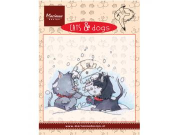 Stempel Marianne Design Cats & Dogs 'snow fight'
