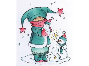 Stempel Marianne Design Snoesjes 'Making Snowman'