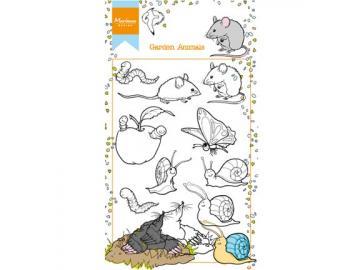 Stempelset Marianne Design 'Garden Animals Maus, Schnecke, Wurm'