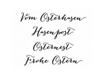 Stempel Karten-Kunst Große Worte - Vom Osterhasen
