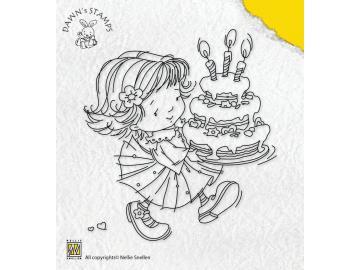 Stempel Nellie Snellen Dawn 'Dawn with birthday cake'