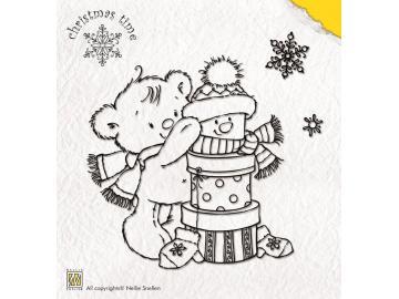 Stempelset Nellie Snellen Christmas time 'Present bear'