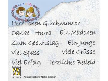 Stempelset Nellie Snellen Lars & Lilly 'German texts'