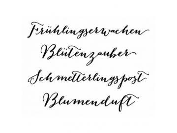 Stempelset Karten-Kunst Große Worte 'Frühlingserwachen'
