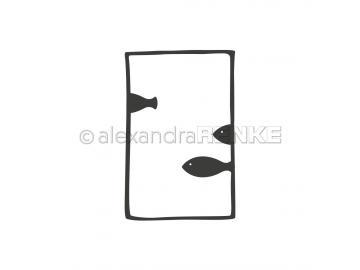 Stanzschablone Alexandra Renke - Fische im Rahmen