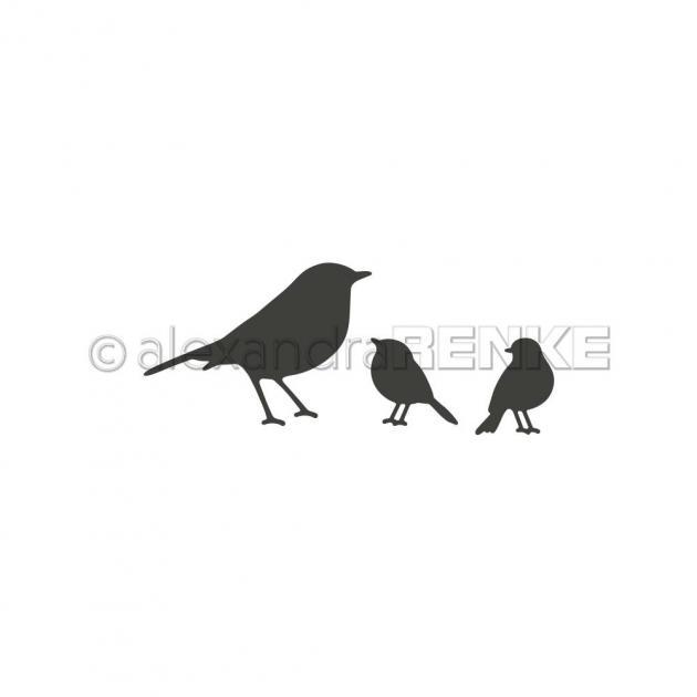 Stanzschablone Alexandra Renke - Vogelfamilie