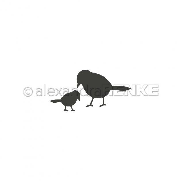 Stanzschablone Alexandra Renke - Vogelpaar