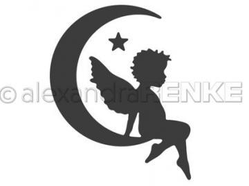 Stanzschablone Alexandra Renke - Engel im Mond rechts