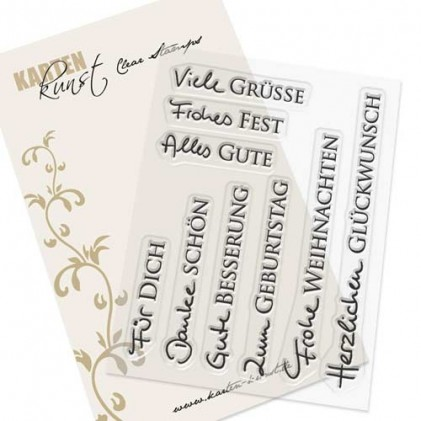 Stempel Karten-Kunst - Kombi-Set Grüße 2
