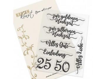 Stempel Karten-Kunst - zur silbernen und goldenen Hochzeit