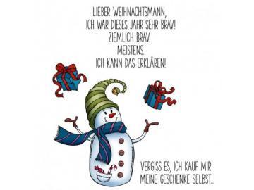 Stempel Karten-Kunst - Braver Schneemann
