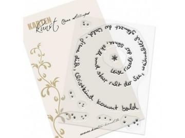 Stempel Karten-Kunst - Spiral-Text Schnee