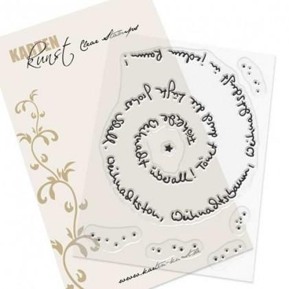Stempel Karten-Kunst - Spiral-Text Weihachten