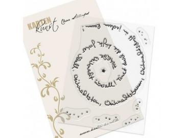 Stempelset Karten-Kunst 'Spiral-Text Weihnachten'