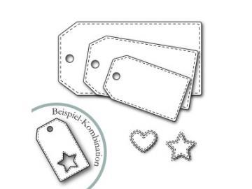 Stanzschablone Karten-Kunst - Tags With Stitches