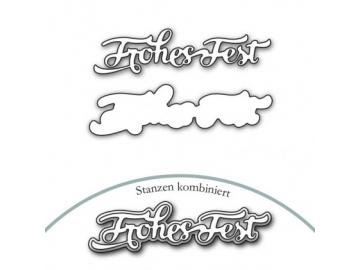 Stanzschablone Karten-Kunst 'Nyala Script Frohes Fest'