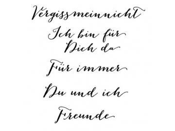Stempelset Karten-Kunst Große Worte 'Vergissmeinnicht'