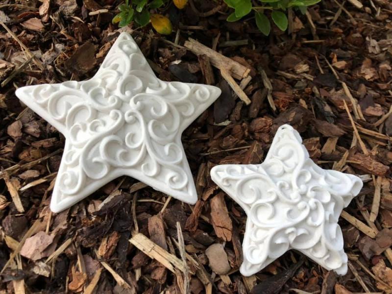 Stern mit Ornament hängend klein
