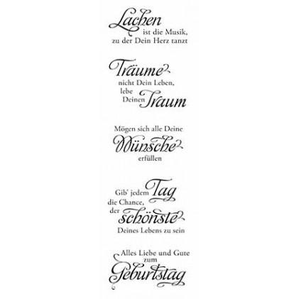 Stempelset Karten Kunst Weise Worte Zum Geburtstag