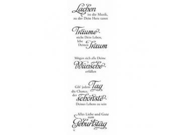 Stempelset Karten-Kunst Weise Worte 'zum Geburtstag'