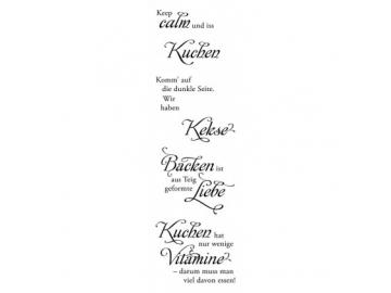 Stempelset Karten-Kunst Weise Worte 'Kuchen & Kekse'