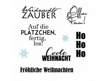 Stempelset Karten-Kunst 'Typomix Weihnachten'