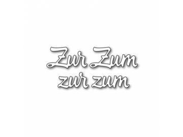 Stanzschablone Karten-Kunst Große Texte 'Zur Zum'