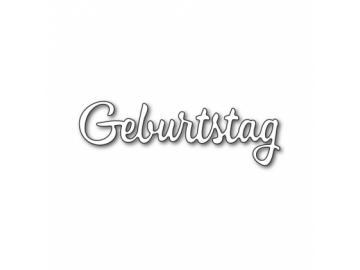 Stanzschablone Karten-Kunst Große Texte 'Geburtstag'