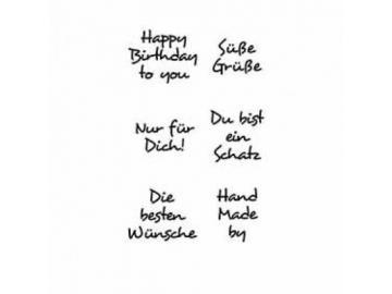 Stempelset Karten-Kunst Inchie 'Grüße 2'