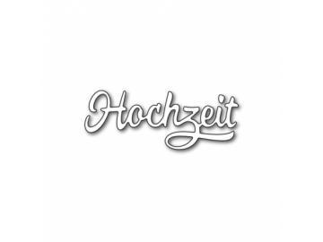 Stanzschablone Karten-Kunst Große Texte 'Hochzeit'