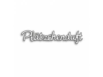 Stanzschablone Karten-Kunst Kleine Texte - Plätzchenduft