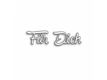 Stanzschablone Karten-Kunst Große Texte 'Für Dich'