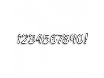 Stanzschablone Karten-Kunst Große Texte '1234567890!'