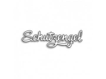 Stanzschablone Karten-Kunst Große Texte 'Schutzengel'